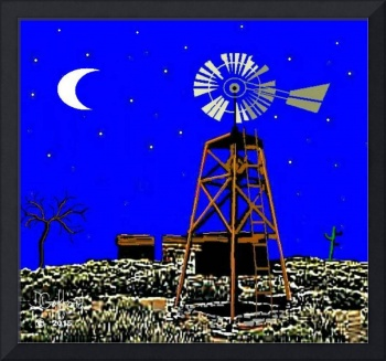 Old Desert Windmill
