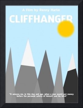 Cliffhanger Minimalist Movie Poster