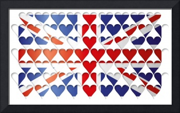 UK HEARTS FLAG