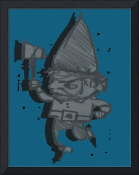 Gnome Jonathon -denim WITH SHADOW, THE BEST!