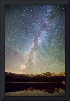 Rocky Mountains Indian Peaks Milky Way Rising