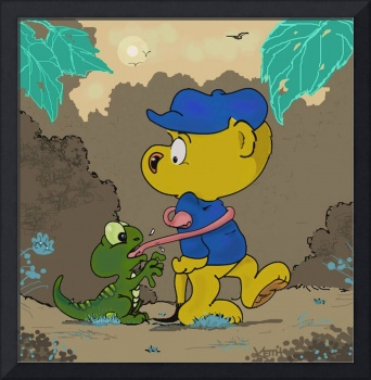 Ferald and A Baby Lizard