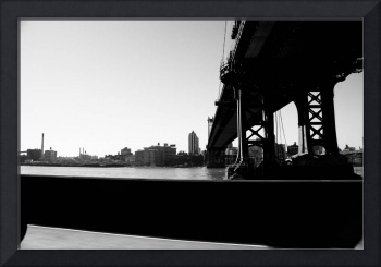 Manhattan Bridge BW