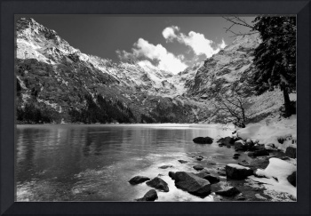 Morskie oko in black and white - Zakopane, Poland