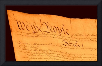 US Constitution Closeup Brown Backgroun d