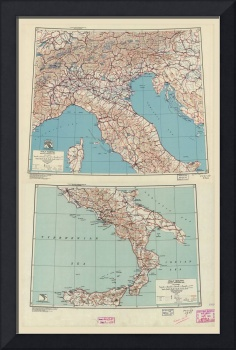 World War II Special Strategic Map of Italy (1943)