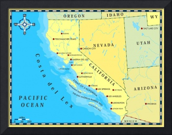 Map Of California, Thanks To A Criminal Mastermind