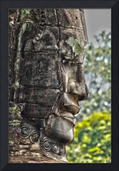 Carved Head Angkor Cambodia