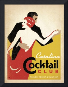 Catalina Cocktail Club - Retro Poster
