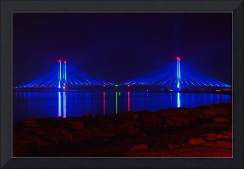 Indian River Inlet Bridge at Night