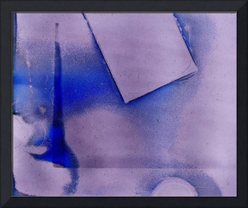 blue cameraless photographic painting
