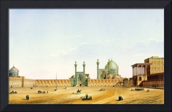 Pascal Coste's depiction of Naqsh-e Jahan Square,