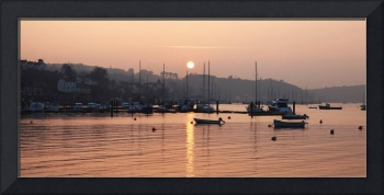 Sunset In The Harbor Crosshaven, County Cork, Ire