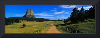 Dirt Road Devils Tower National Monument WY