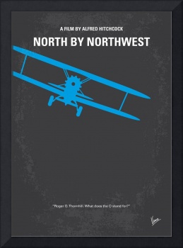 No535 My North by Northwest minimal movie poster