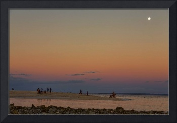 Full Moon Beach Watching At Sunset