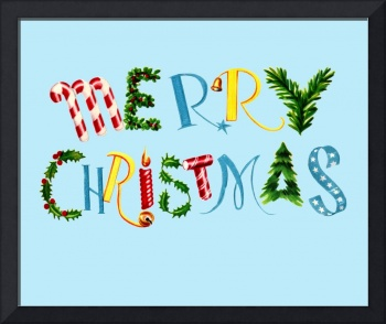 Merry Christmas collage font