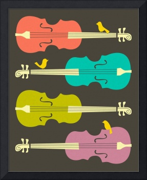 BIRDS ON CELLO STRINGS 2