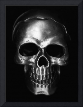 Silver Skull Art - Original black and white photog
