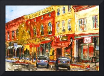 Landscape Painting of Lee, MA