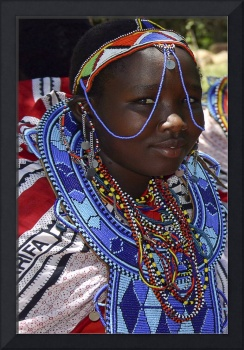 Kenya 2004 Maasai Girl Adorned gloriousjourneyphot