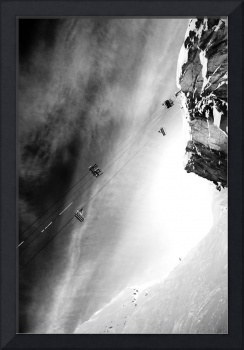 Skiers on Whistler mountain peak snow photograph