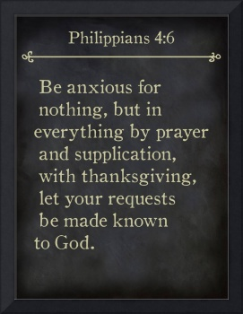 Philippians 4:6- Bible Verse Wall Art Collection