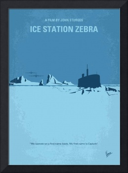 No711 My Ice Station Zebra minimal movie poster