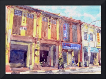 The shophouses in Katong, Singapore