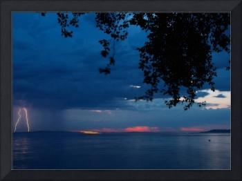 Lightning over Puget Sound Alki Beach