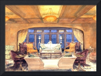 Great Room of Lakefront Gothic