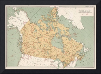 Vintage Canada Exploration Map (1915)