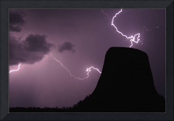 Devil's Tower and Lightning