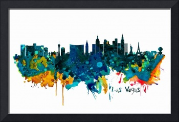 Las Vegas Watercolor Skyline