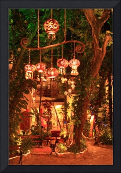Night Lanterns in the Courtyard, Playa Del Carmen,
