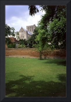 Winchester Cathedral from outside the Close wall