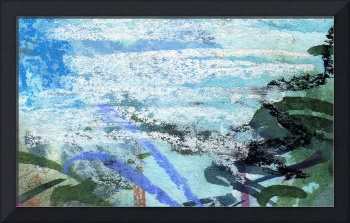 Seafoam and Water Abstract by Ginette Callaway