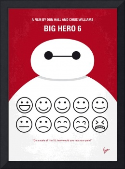 No649 My Big Hero 6 minimal movie poster