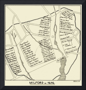 Milford Connecticut In 1646 Antique Map