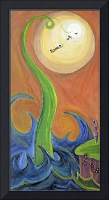 Hylozoic Triptych (Right Panel): The Beanstalk to