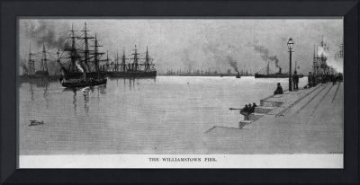 HW0360 Williamstown Pier circa 1880