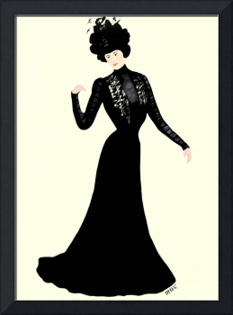 Lady Of Fashion In  Black