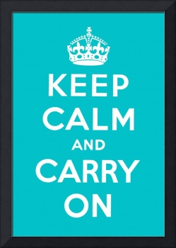 Blue Keep Calm And Carry On 1