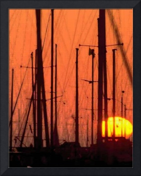 SAIL BOATS SUNSET by aes