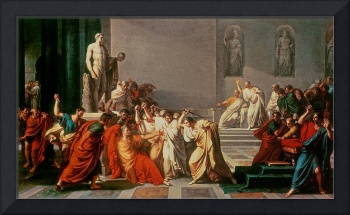 Death of Julius Caesar (100-44 BC) (oil on canvas)