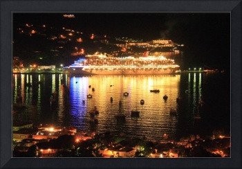 Cruise Ship at Night, Charlotte Amalie