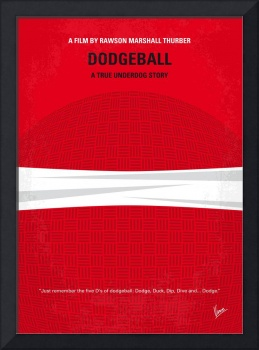 No617 My Dodgeball minimal movie poster