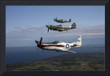 P-51 Cavalier Mustang with Supermarine Spitfire fi