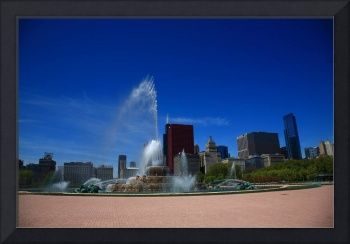 Chicago Skyline and Buckingham Fountain