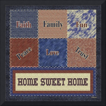 Americana Patchwork Home Sweet Home Collage